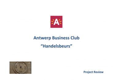 Antwerp Business Club Handelsbeurs - 2013 11 18