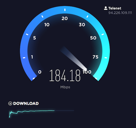 telenet-speedtest
